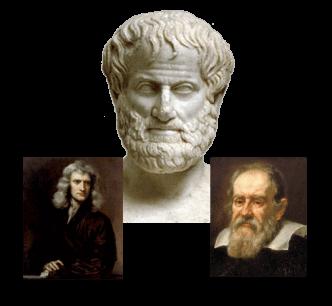 aristotle, galileo, newton